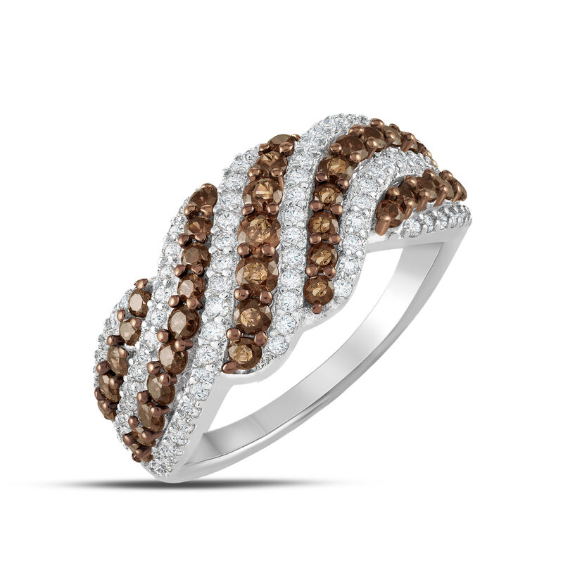 Mocha Wave Sterling Silver Ring 6786 0015 a main