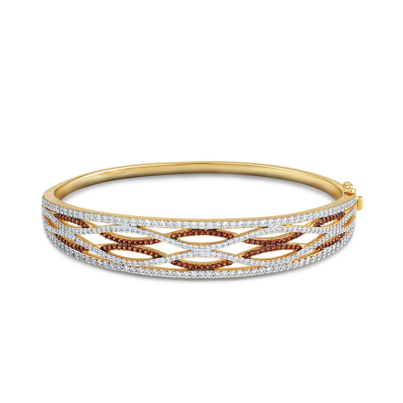 Mocha Swirl Diamonisse Bangle 6927 0015 a main