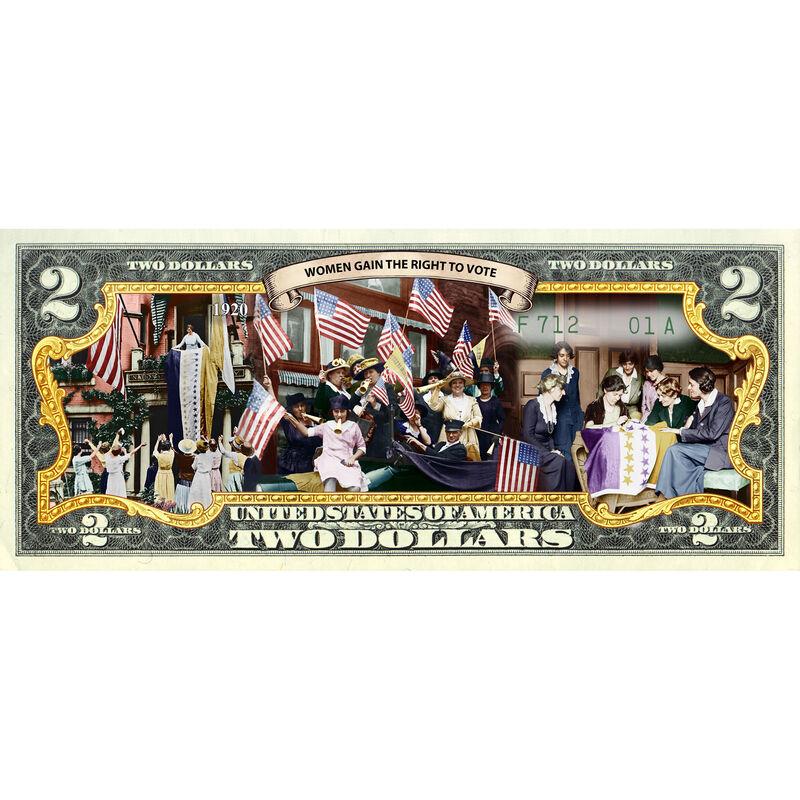 Women in America Enhanced $2 Bill Collection 10051 0015 c vote bill