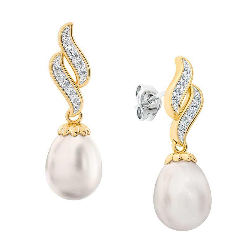 Diamond Waves Pearl Earrings 6163 001 8 1