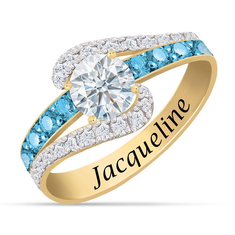 Personalized Birthstone Splendor Ring 10385 0012 l december