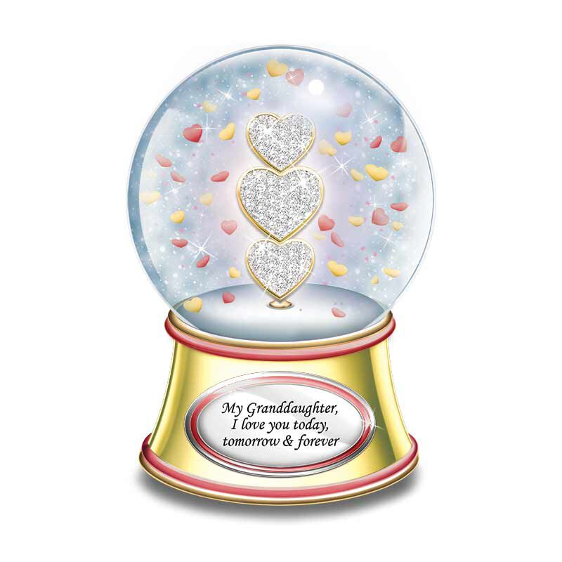 My Granddaughter I Love You Musical Sparkle Globe 5705 001 5 1