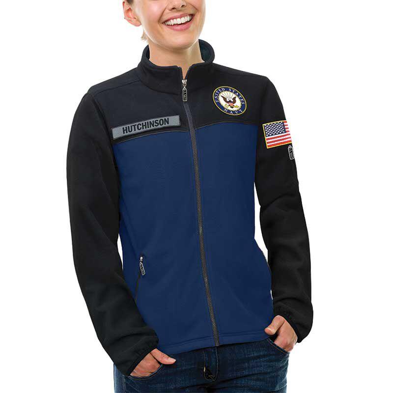 The US Navy Womens Fleece Jacket 1662 011 4 2