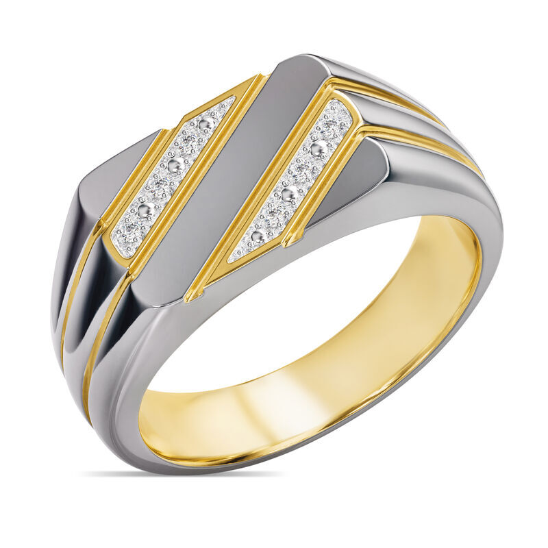 The Gentleman Mens Diamond Ring 6796 001 3 1