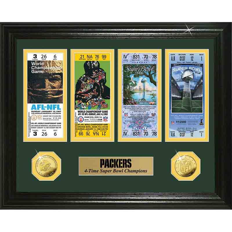 Green Bay Packers Super Bowl Framed Commemorative 4391 097 5 1