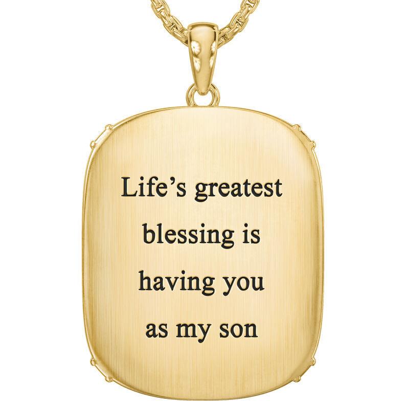 My Lifes Greatest Blessing Son Diamond Faith Pendant 6781 001 0 3