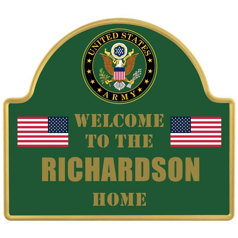 The Personalized US Military Welcome Sign 6099 001 7 2