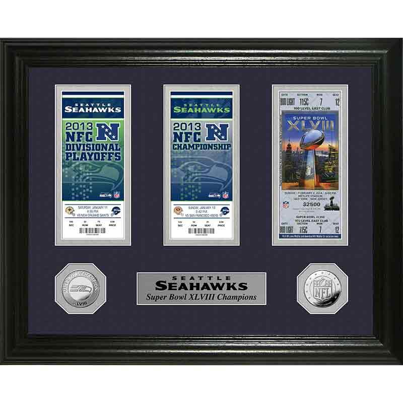 Seattle Seahawks Super Bowl Framed Commemorative 4391 092 6 1