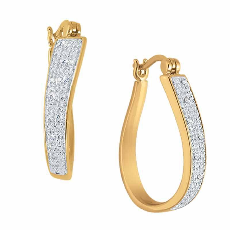 Sensational Swirl Diamond Hoop Earrings 2641 001 9 2