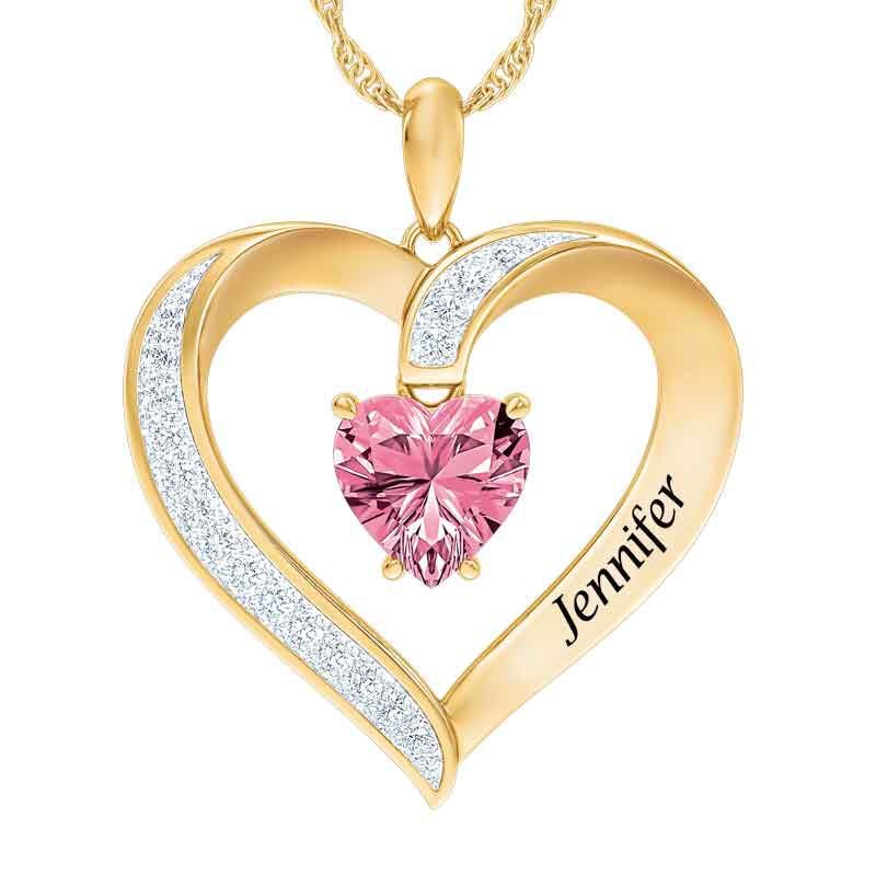 Personalized Birthstone Heart Pendant 5447 001 8 10