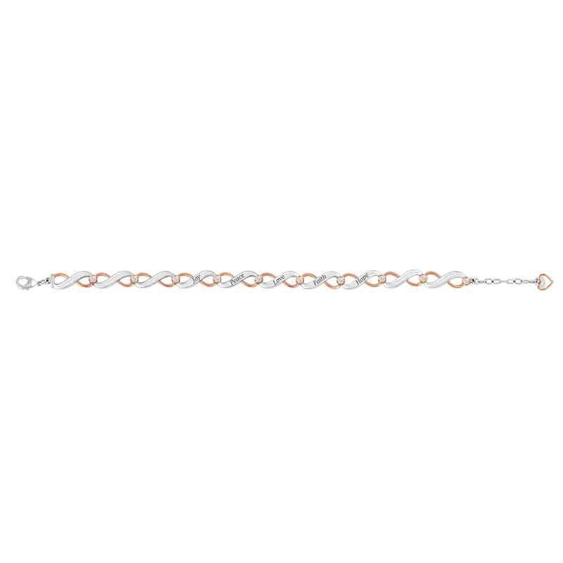 Healing Words Copper  Diamond Bracelet 1830 001 2 2