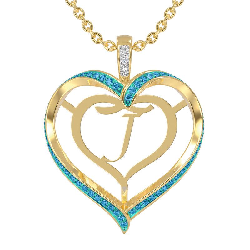 Personalized Birthstone Diamond Pendant 10138 0012 l december