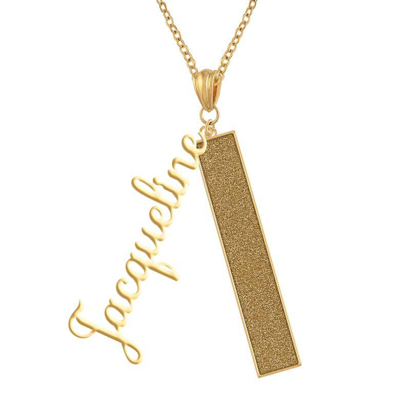 Personalized Birthstone Bar Necklace 6800 001 7 11