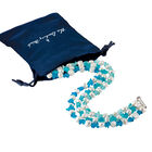 Blue Wave Pearl Necklace 6748 0012 g gift pouch