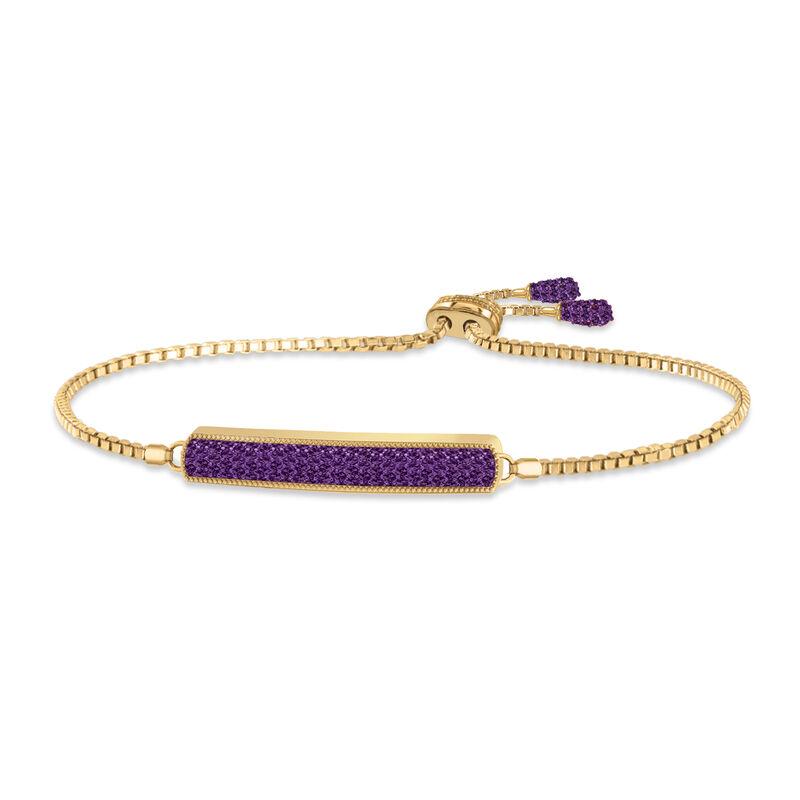 Birthstone Bolo Bracelet 6501 0027 b february