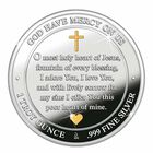 The Sacred Heart of Jesus Silver Medallion 2166 001 4 4