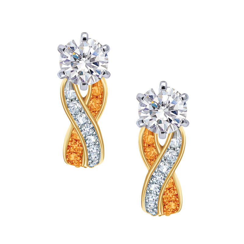 Birthstone Swirl Earrings 6503 0033 j november