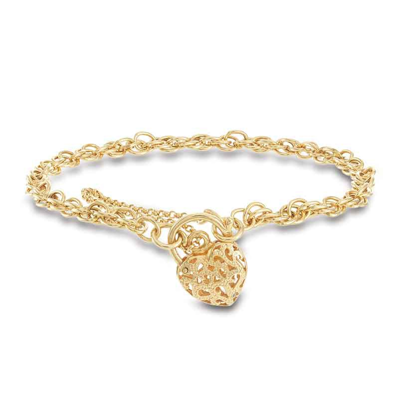 Lock of Love 14kt GoldAura Bracelet 6352 001 9 1