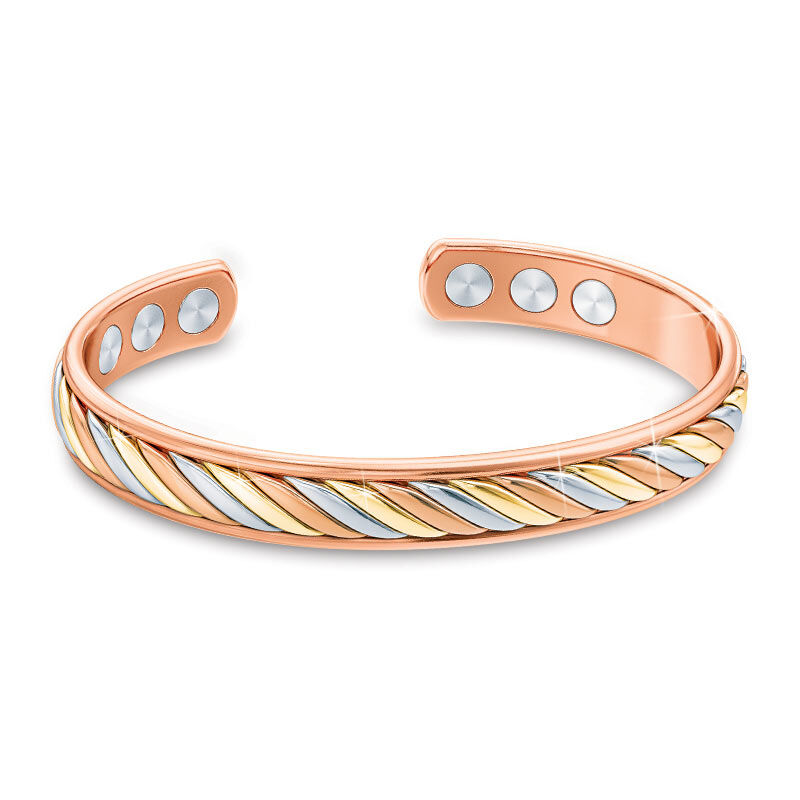 Copper Trinity Braided Magnetic Bangle 2135 001 2 1