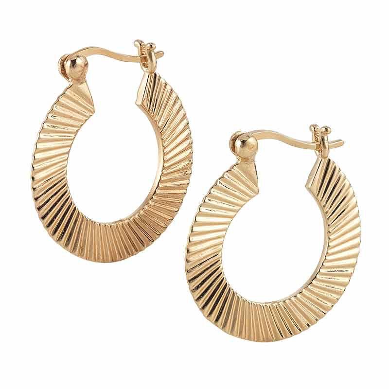 Golden Waves Pendant  Earring Set 6421 001 6 3