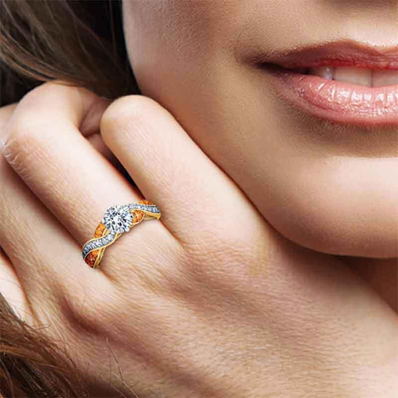 Birthstone Swirl Personalized Ring 5361 001 0 14