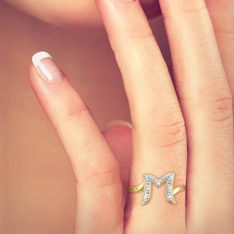 Personalized Diamond Initial Ring 5216 001 7 2