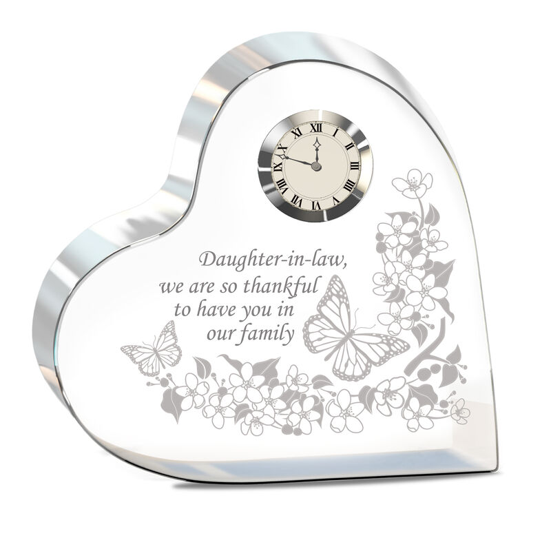 My Daughter in Law We Are So Thankful Crystal Desk Clock 10222 0019 a main