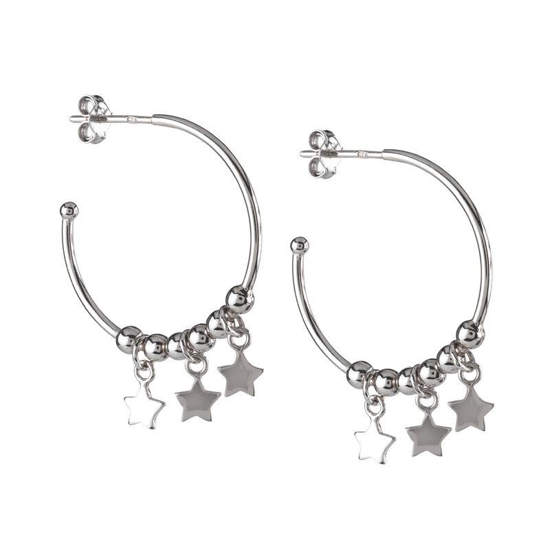 A Sterling Year Silver Hoop Earrings 10633 0012 e earring05