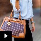 Personalized Initial Handbag, , video-thumb