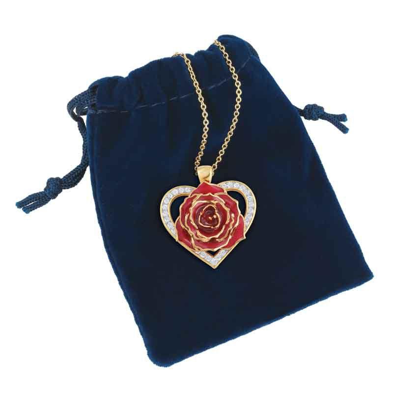 True Love Genuine Rose Heart Pendant 2249 001 5 3