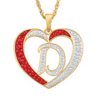 For My Daughter Diamond Initial Heart Pendant 10119 0015 a d initial