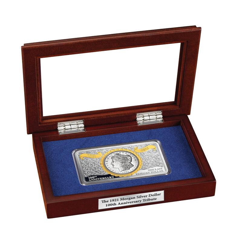 The 1921 Morgan Silver Dollar 100th Anniversary Tribute 6700 0018 a display