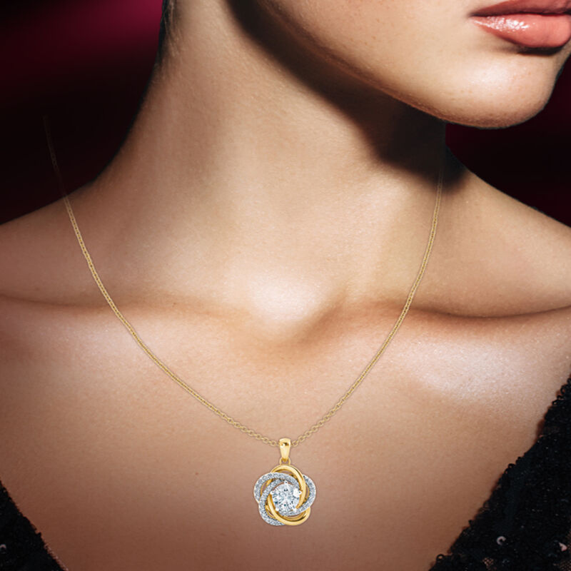 Perfectly Paired Love Knot Pendant 4922 0056 m model