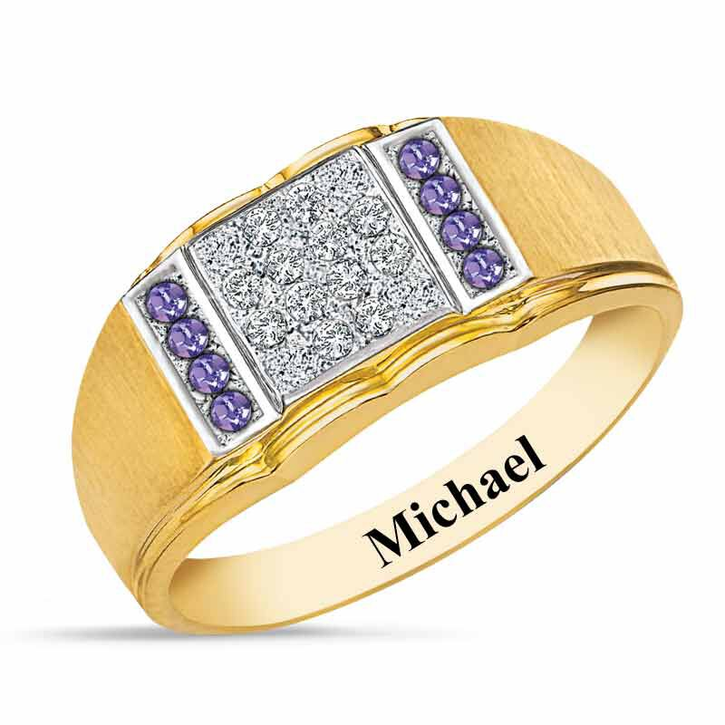 Birthstone Diamond Ring 5211 001 2 6