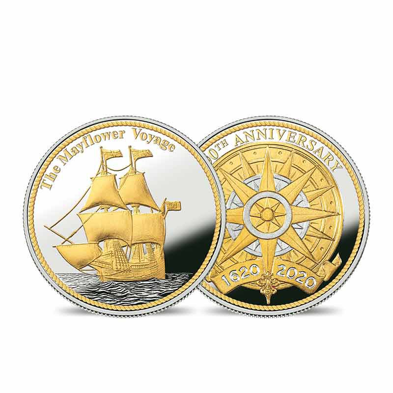 The Mayflower 400th Anniversary Silver Bullion Commemorative Set 6699 001 1 2