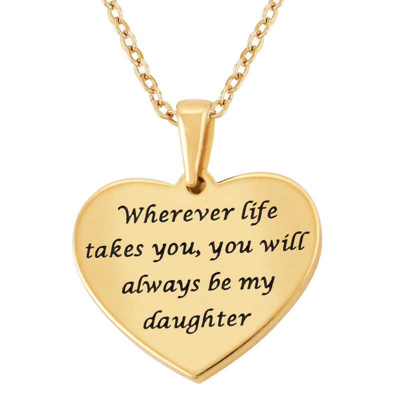Always My Daughter Diamond Pendant Music Box 2869 0055 d pendant back