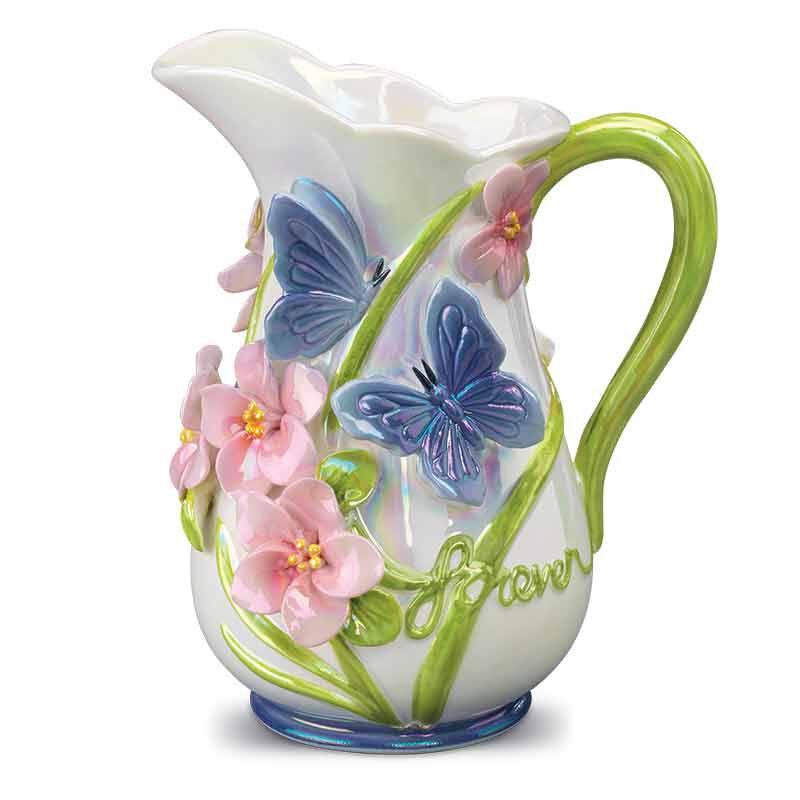 My Daughter Forever Floral Ceramic Vase 6113 001 9 1