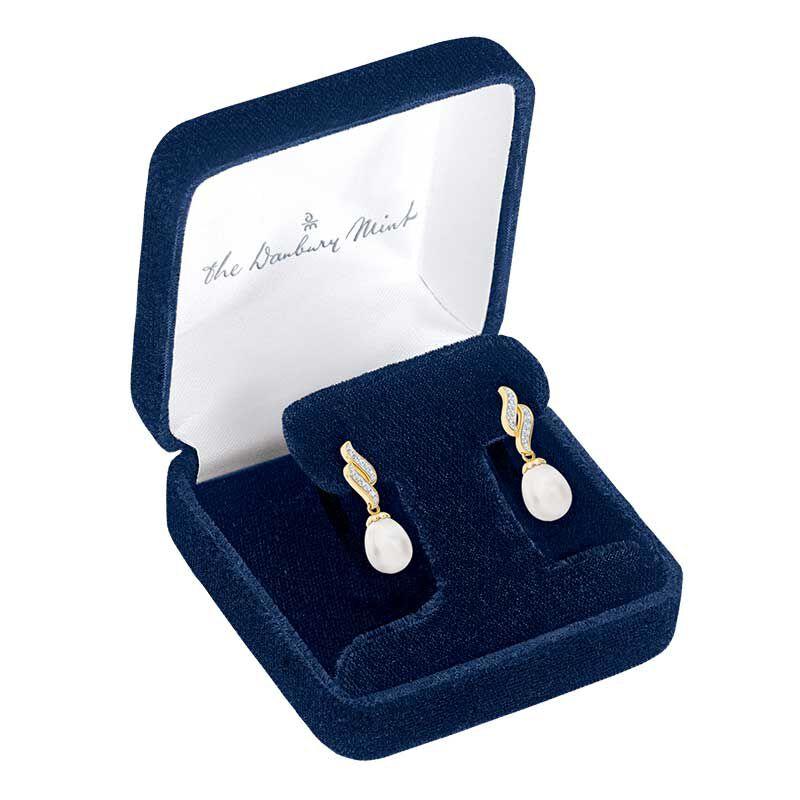 Diamond Waves Pearl Earrings 6163 001 8 2