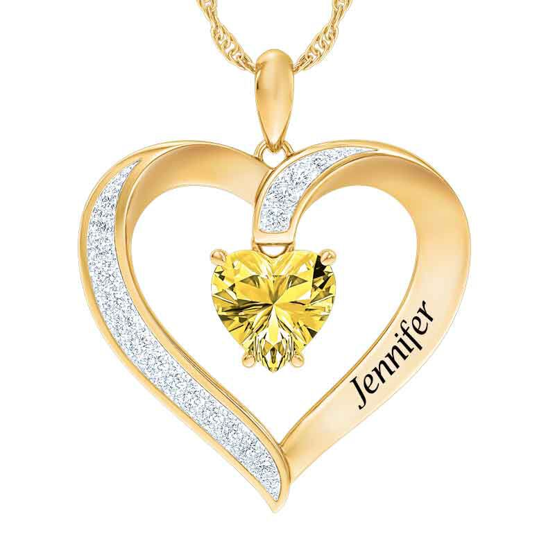 Personalized Birthstone Heart Pendant 5447 001 8 11
