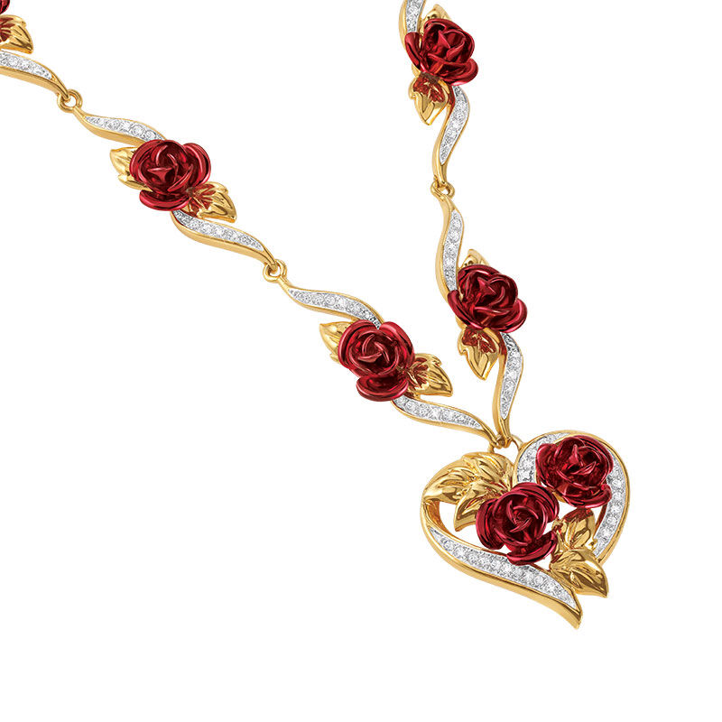 A Dozen Roses Heart Necklace 6308 001 4 2