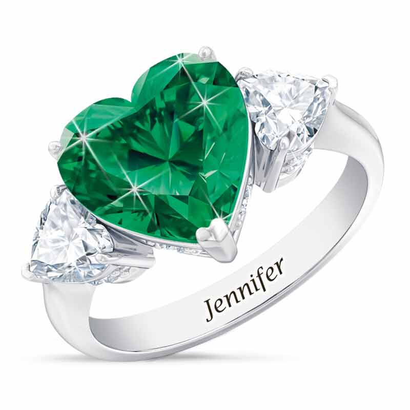 Birthstone Triple Heart Ring 1516 001 3 5
