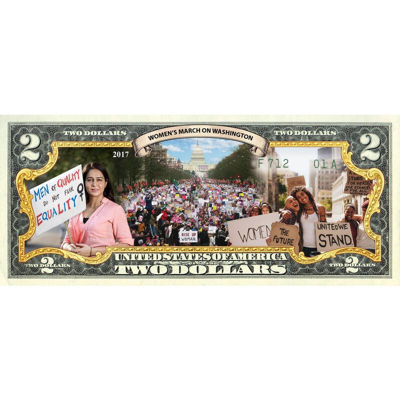 Women in America Enhanced $2 Bill Collection 10051 0015 d march bill