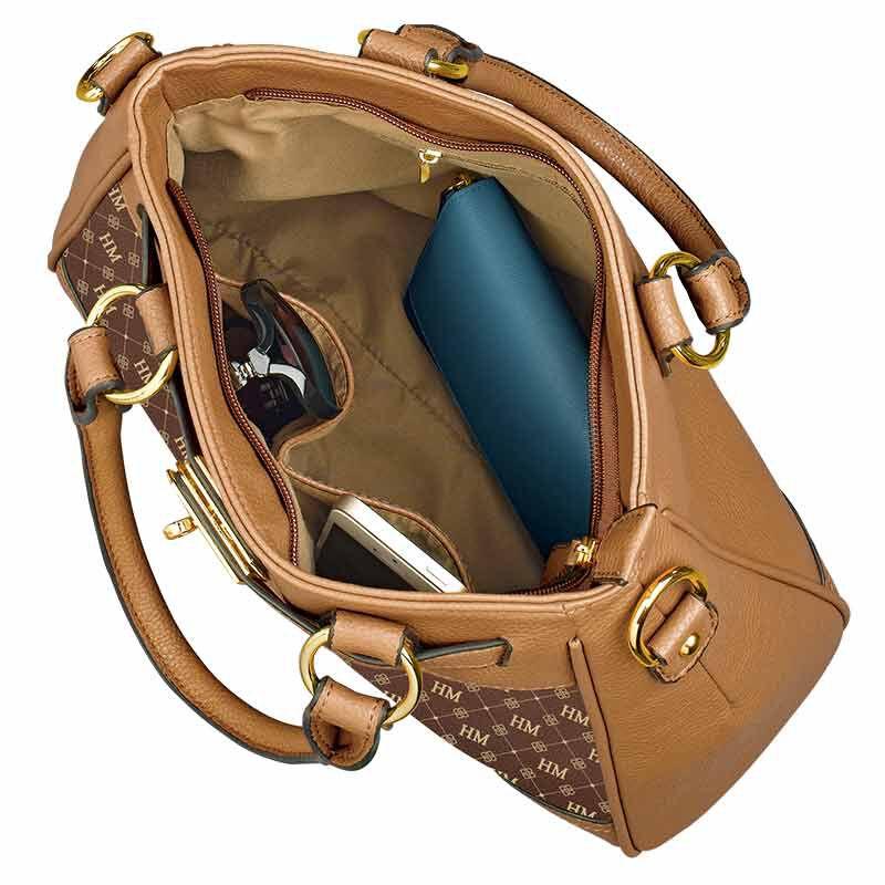 Personalized Initial Brown Handbag 1040 001 8 4
