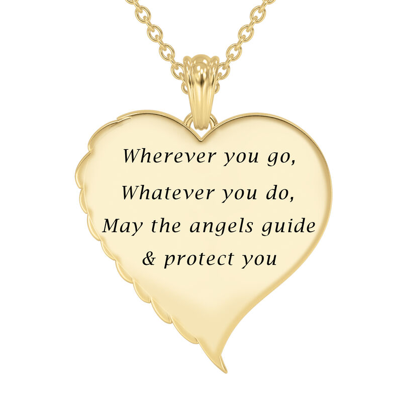 Angels are With You Diamond Heart Pendant 10424 0015 c back