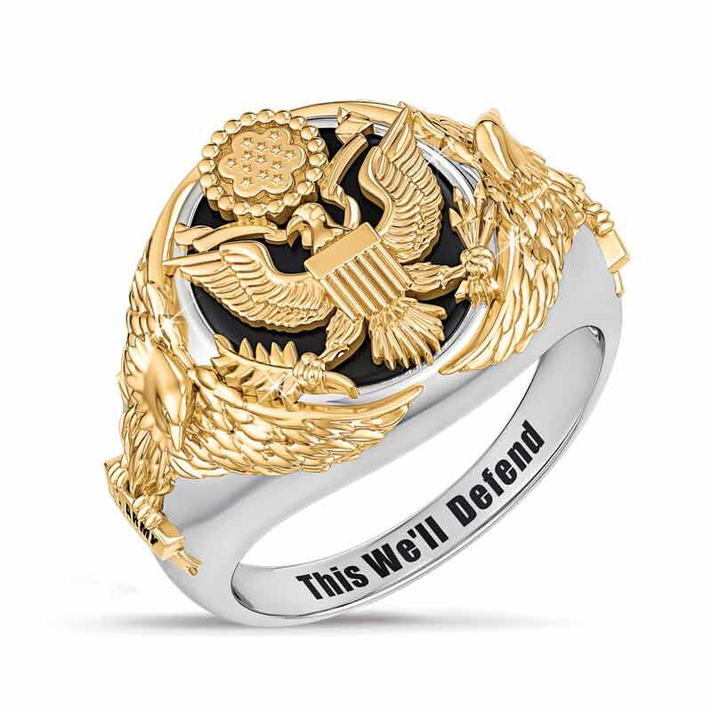 Personalized Army Eagle Ring 5323 007 4 1