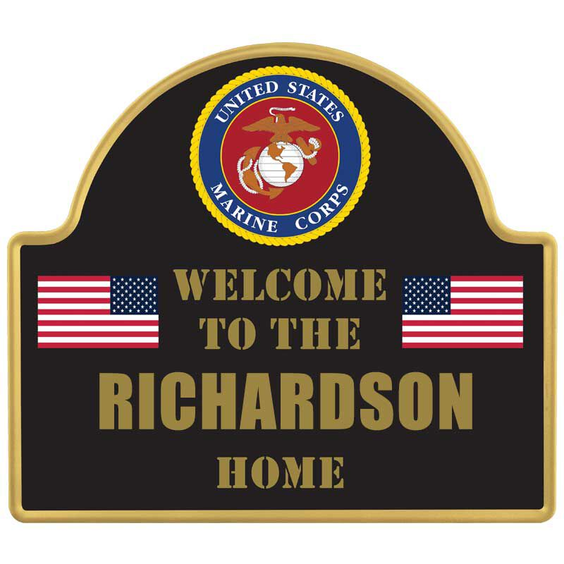 The Personalized US Military Welcome Sign 6099 001 7 3