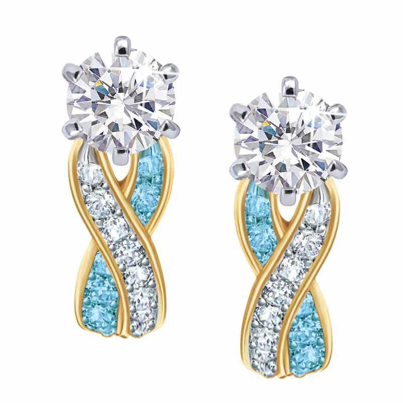 Birthstone Swirl Earrings 5361 014 3 3