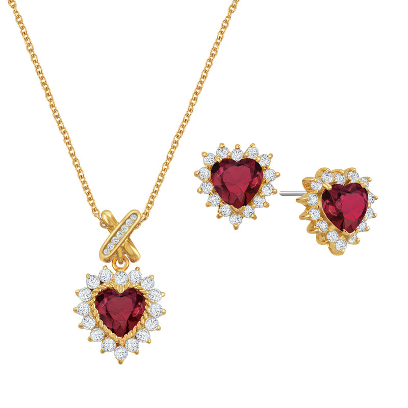 Perfectly Paired Heart Pendant and Earring Set 6574 0011 a main