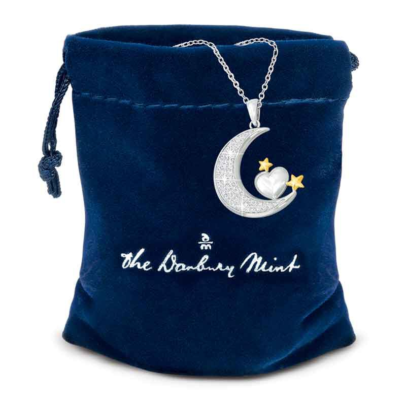 My Granddaughter I Love You to the Moon and Back Pendant 4507 002 6 3
