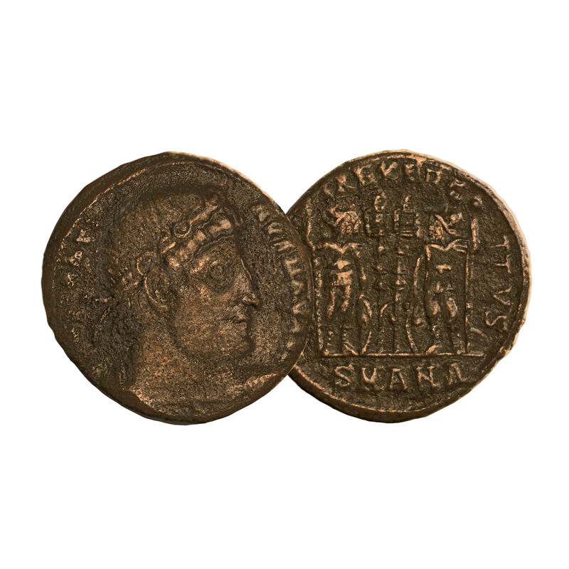 The Roman Empires First Coins of Christianity 6661 0015 c soldiers